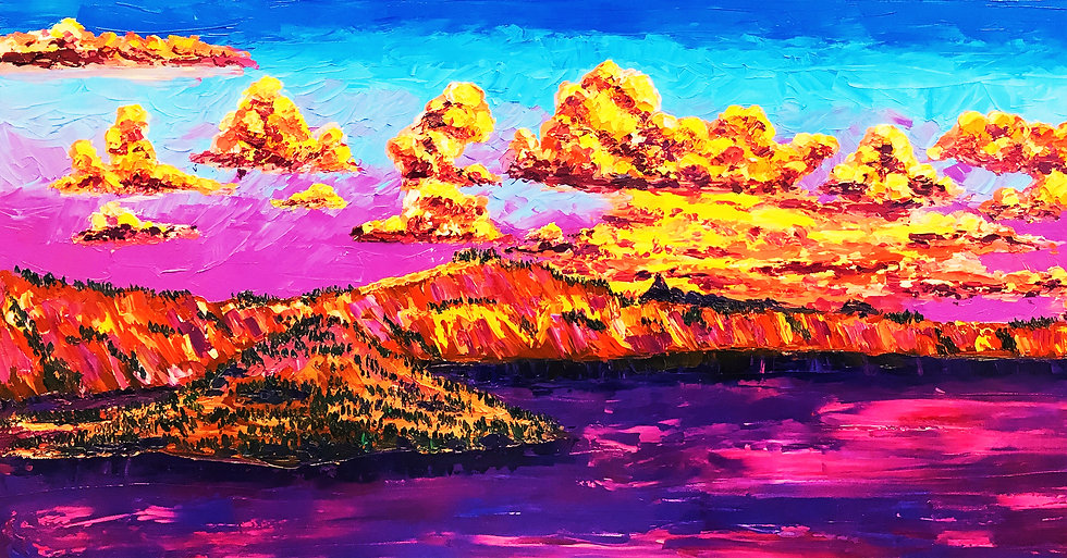 """Crater Lake at Sunset ""Fine Art Print"
