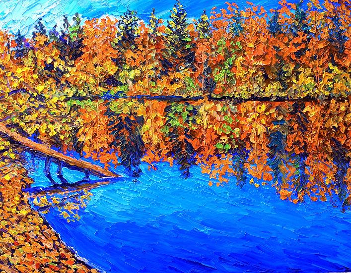 """Fall Reflections"" Fine Art Print"