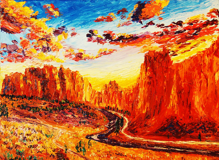 """Smith Rock at Sunset ""Fine Art Print"