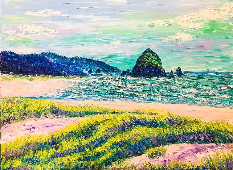Summers at Cannon Beach 18x24
