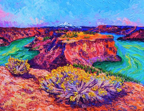The Cove Palisades 24x30. Oil on canvas.