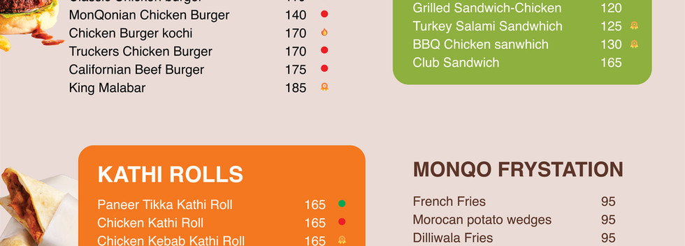 monQo snack menu