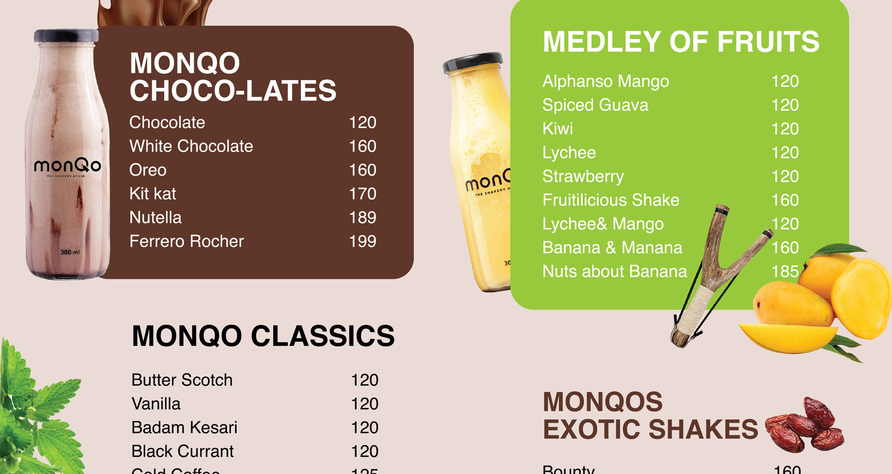 monQo milkshake menu