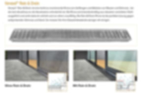 Zubehör KMB-Terrassendach  Rain & Drain Spritzwasserschutz