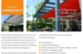 Zubehör KMB-Terrassenüberachungen Unterdach Sonnenschutz