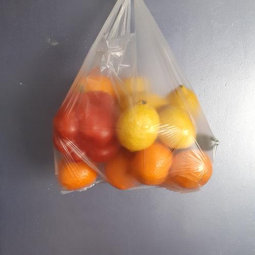 Reklamówki 400 szt. bezbarwne pakowane w box 1 kg.