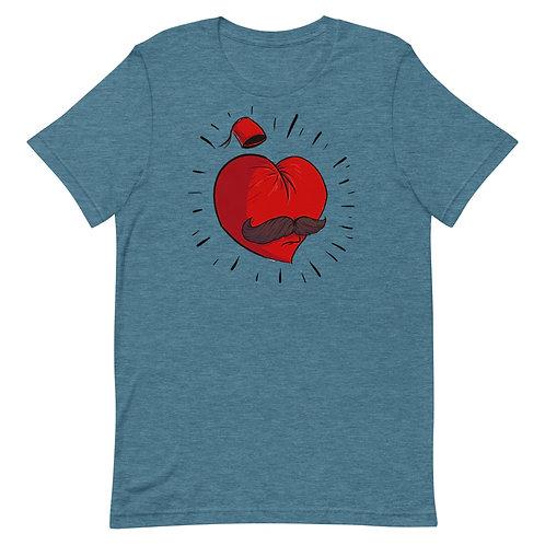 Mustache Love - Short-Sleeve T-Shirt - حب أبو شنب
