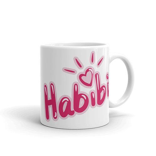 Habibi 1 - White Glossy Mug - حبيبي ١