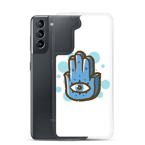 Blue Hand - Samsung Case - خمسة و خميسة