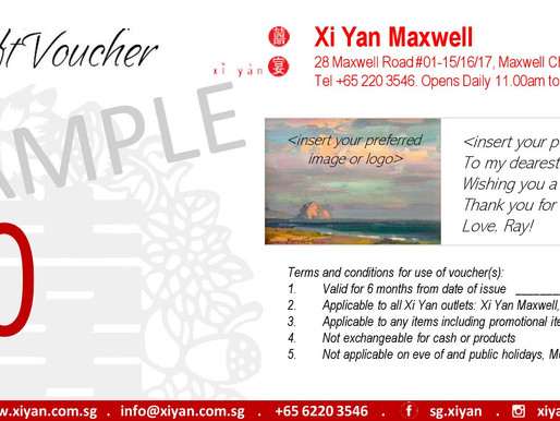 Xi Yan Dining Vouchers and Gifts