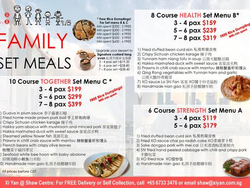 Family Set Meals