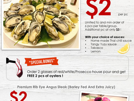 $2 Oysters and Steaks