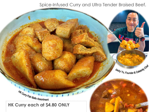 HK Curry Fish Balls & Beef . Coming Soon 1 Oct