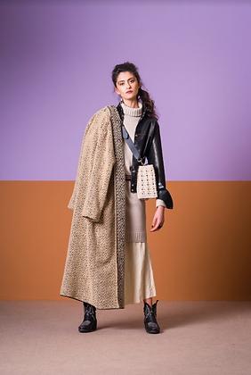 Long Manteau Beige et gris