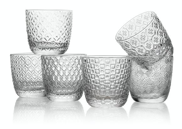 SIXTIES set de 6 verres à eau
