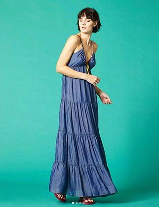 Robe bleue à bretelle