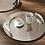 Thumbnail: Plateau rond acier avec poignées blanches