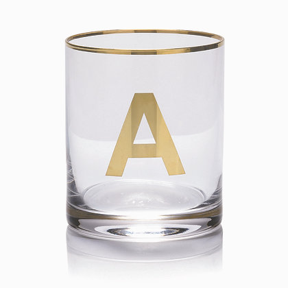 REBUS verre lettres dorées