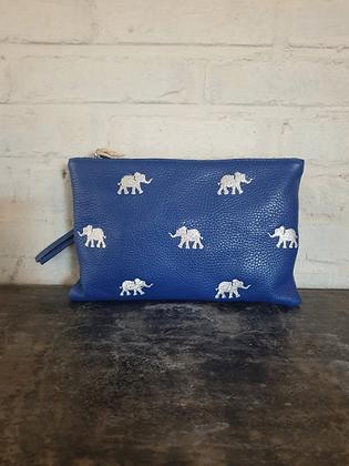 Pochette Elephant bleu
