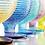 Thumbnail: MULTICOLOR set 6 verres à eau sur pied multicolors