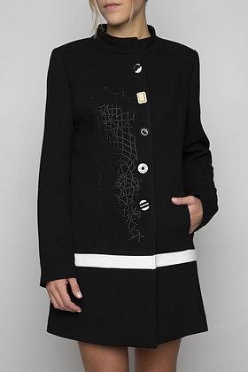 Manteau  3/4 Noir et blanc