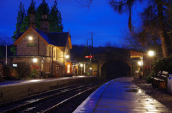 Arley Station at Night