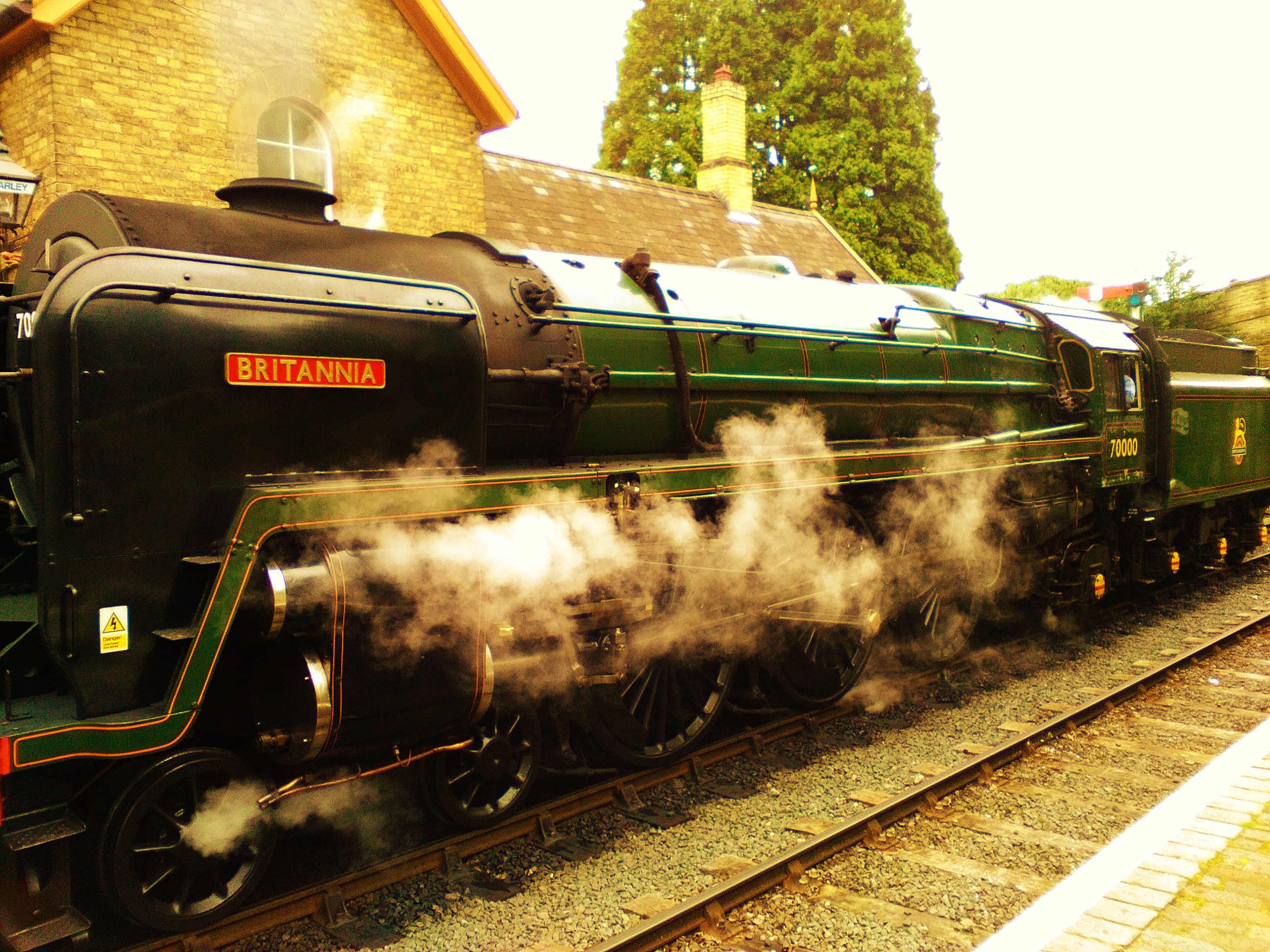 """Britannia"" at Arley Station"