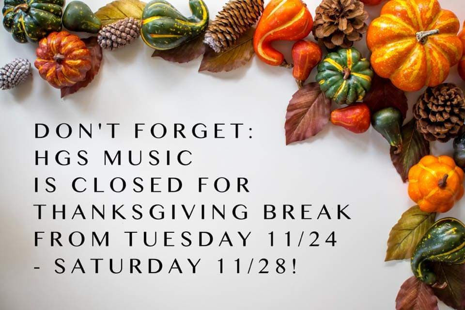 Closed for Thanksgiving break!