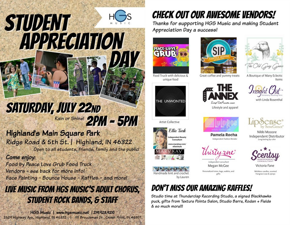 Student Appreciation Day: Sat, July 22nd!