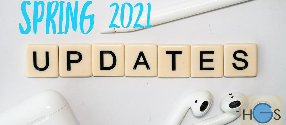 Spring 2021 Updates