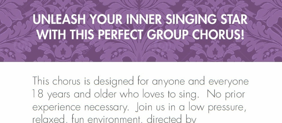 Sign up for ADULT CHORUS!