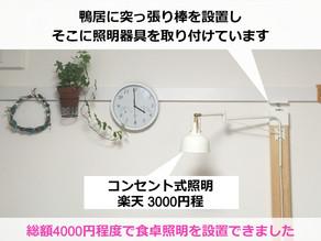 賃貸で照明を自由につける方法とは?【簡単おしゃれ】