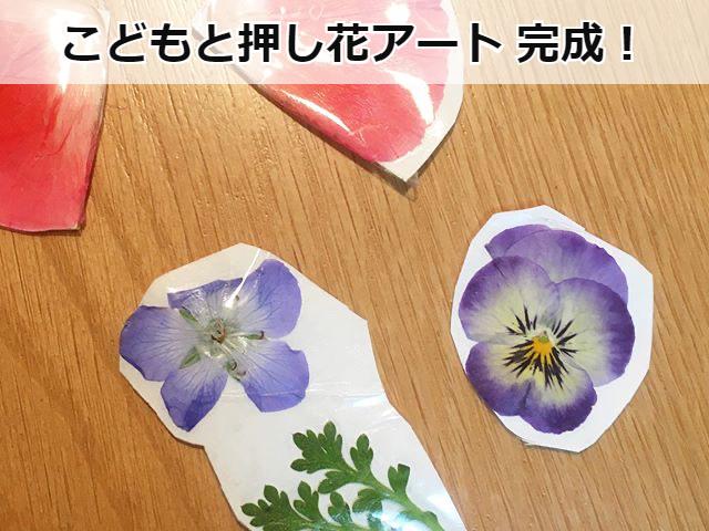 完成した押し花アート