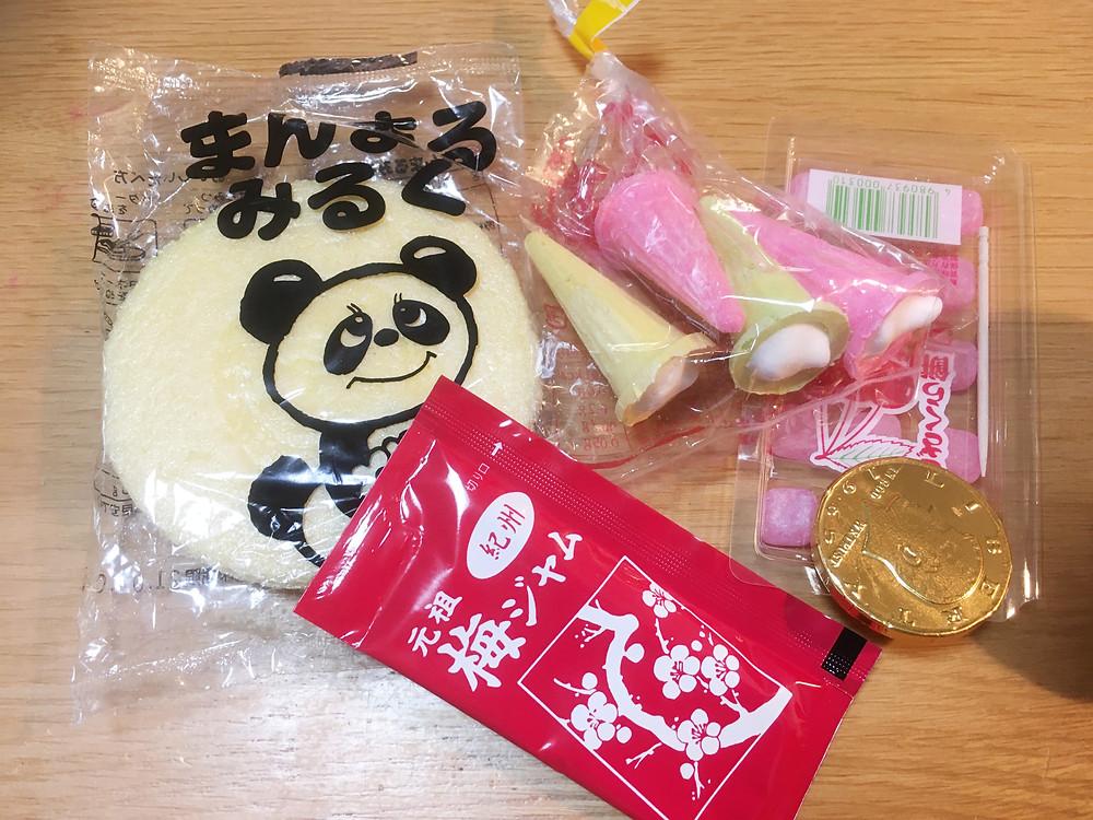 江坂の駄菓子屋さんで購入したお菓子