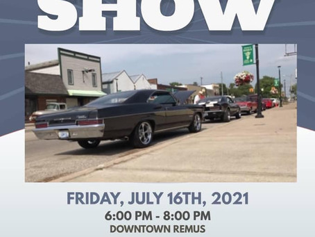 Heritage Days Car Show- July 16, 2021