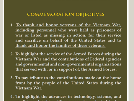 November 10, 2018 Vietnam Veteran Tribute Event