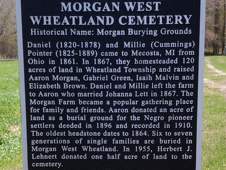 Morgan West Wheatland Cemetery- First Federally Recognized Historical Site