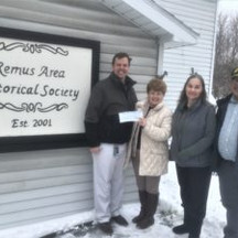 Remus Area Historical Society received a $2,000 grant from the Consumers Energy Foundation