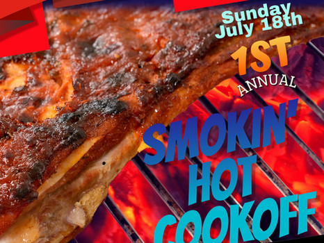 Heritage Days Smokin' Hot Cookoff- July 18th, 2021
