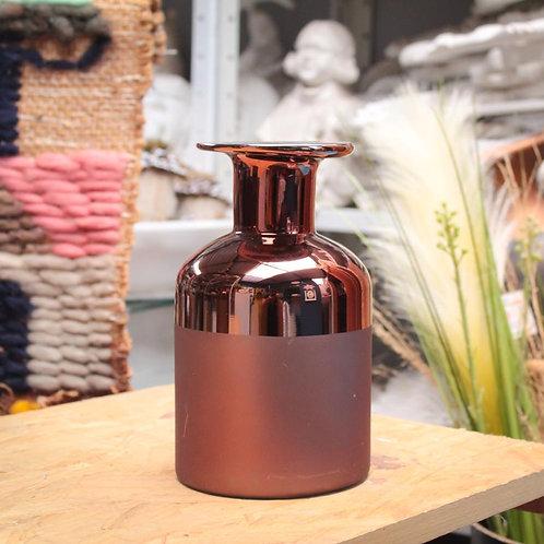 Vaso de vidro cobre