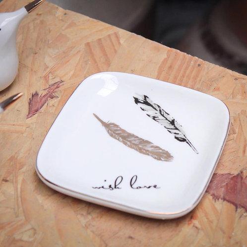 Mini prato de cerâmica