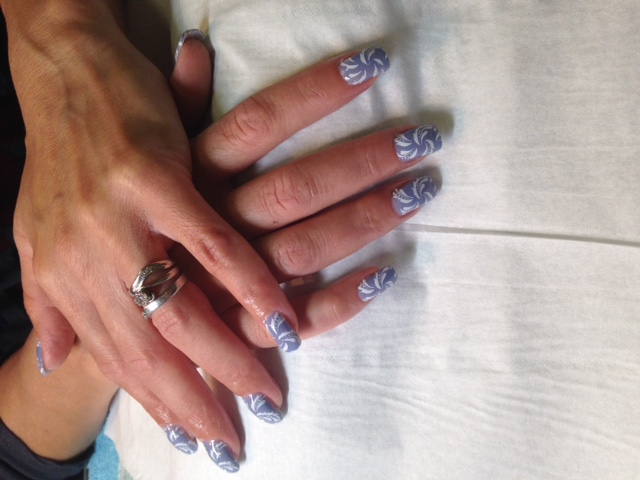 Gel Polish Nails with nail art
