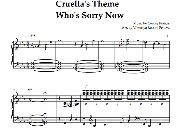 Cruella  - Who's Sorry Now by Connie Francis