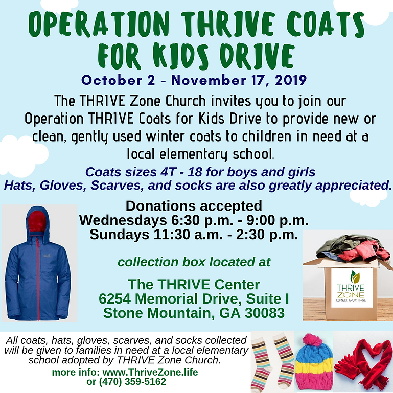 Operation THRIVE Coats for Kids