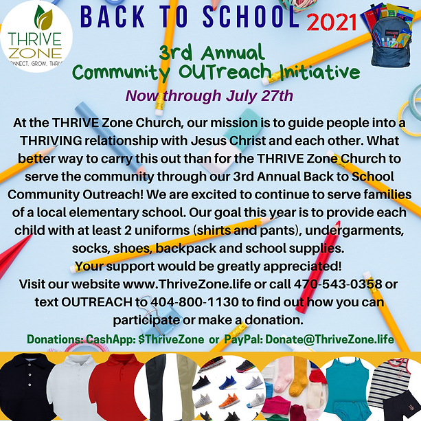 3rd Annual Back to School Initiative 2021