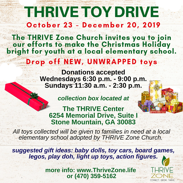 THRIVE Toy Drive