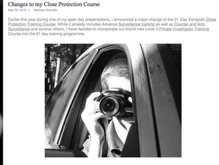 Close Protection and Private Investigator Training Combined