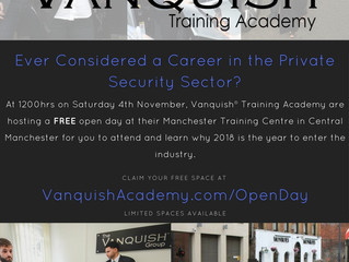 Big Announcement to be Made on the Close Protection Course Open Day