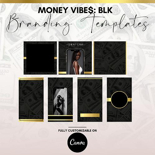 MONEY VIBE$: BLACK (BRANDING TEMPLATES)
