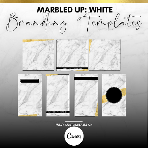 MARBLED UP :  WHITE (BRANDING TEMPLATES)